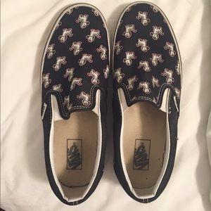 Zebra Slip on Vans